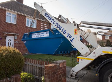 mega skip being delivered