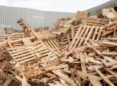 wood recycling site
