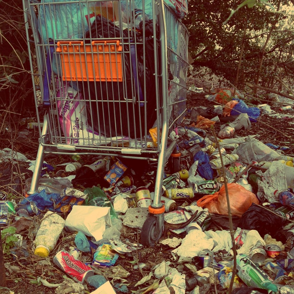 illegal dumping on private land