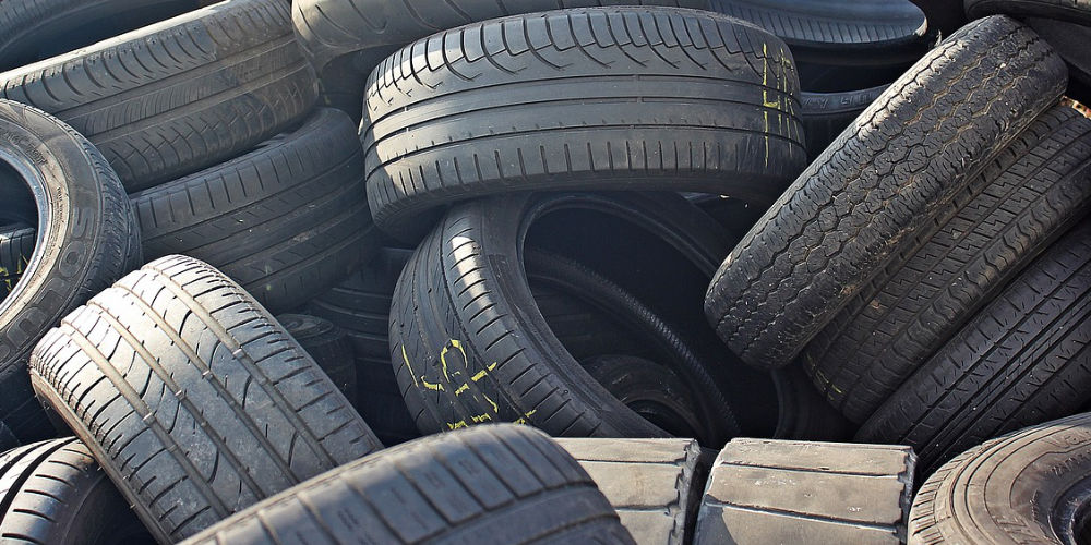 can you put tyres in a skip