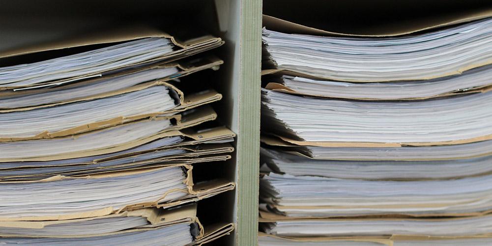 disposing of paperwork